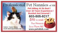 Pet Sitter NH, Professional Pet Nannies of NH, Pet Sitter,Pet Care,Dog Boarding, Dog Walking,Pet Sitting,Wolfeboro,Rochester,Dover,Portsmouth</title>