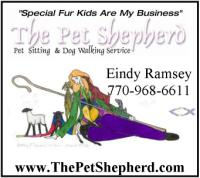 The Pet Shepherd. Pet Sitting, Dog Walking, House Sitting in Atlanta, Morrow, Jonesboro, Stockbridge, Lake City, Ellenwood, Rex, Forest Park, Georgia