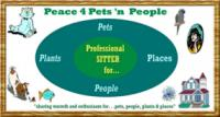 Peace 4 Pets n' People - a pet sitting business