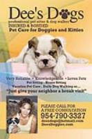 Coral Springs Pet Sitting Service