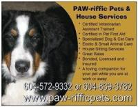 Paw-riffic Pet Services. Dog and Cat Sitting Services.